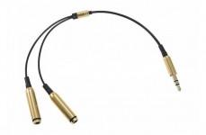 AUX разветвитель 3,5mm (1штекер -> 2гнезда) Rexant