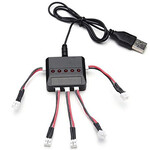 Зарядное устройство H107D, USB для балансировки аккумуляторов LiIon с розеткой 2pin